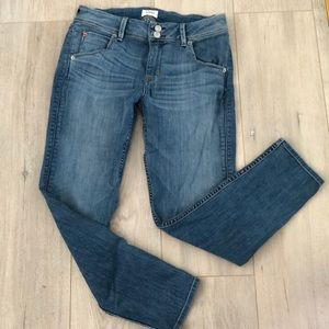 Hudson Collin flap pocket skinny crop jeans 29